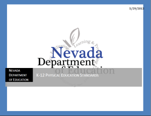 Nevada State Physical Education Standards